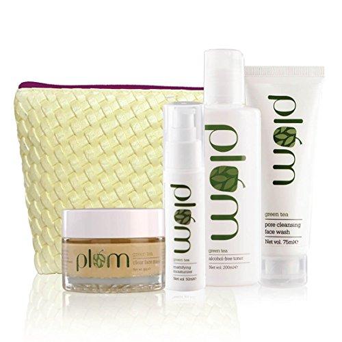 Plum Green Tea Face Care – Full Set(set of 4) | For Oily & Acne Prone Skin | Vegan Skin Care