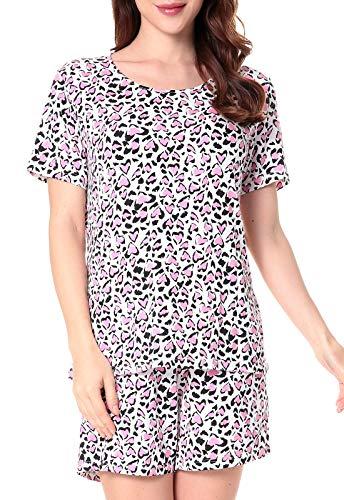 N NORA TWIPS Women's Short Sleeve Scoop Neck Pajama Set