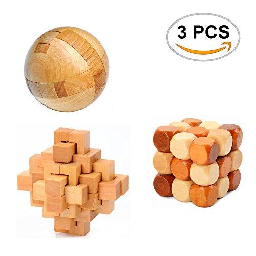 3PCS Oruuum Puzzle Brain Teaser Disentanglement, Puzzles Magic Balls, Snake Cube Wooden Brain Teaser Puzzle And 24 Unlock Interlocking Brain Teaser Puzzle ——Toy Game Logic Burr Puzzles.
