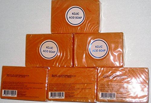 Kojic Papaya Whitening Soap Six Bars (135g (Papaya Soap Whitening)