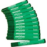 "Dixon 52200 Lumber Marking Crayons, Green, 4-1/2 x 1/2"" Hex, Pack of 12"