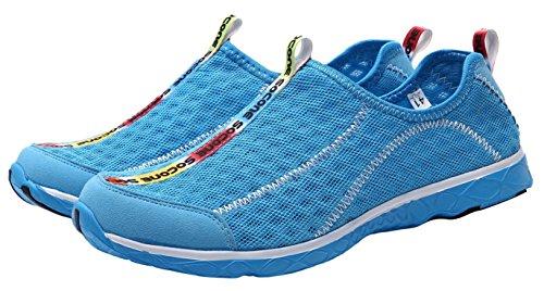 Leichter Beleg UJoowalk Männer auf Ineinander greifen-Aqua-Wasser-Schuhen Himmelblau
