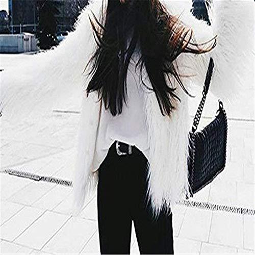 Femme Chaud Fourrure Young Blouson Confortables Hiver Art Courte Fourrure Manteau Manche en Manches V Jeune Veste Uni Mode Fourrure Longues Laineux Styles ZF5wqFYP