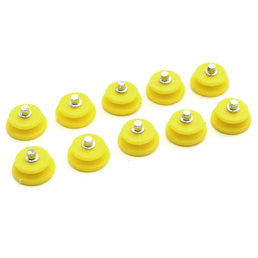 YOTHG 10 Studs Ice and Snow Grips Crampons Cleats Spikes Anti Slip Ice Traction Cleats Over Shoes/Boot (10Pcs)