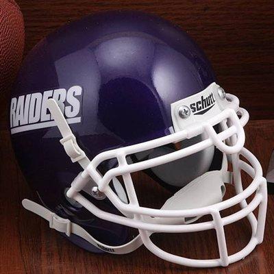 Schutt Mount Union Purple Raiders Mini Authentic Helmet - NCAA Licensed - Mount Union Purple Raiders Collectibles