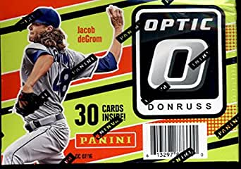 2016 Donruss Optic Baseball Blaster Box With 24 Cards 6 Packs With 4 Cards Each Look For Blaster Exclusive Inserts Like Pink Parallel Base Diamond