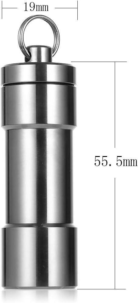 Outdoor Titanium Ti CNC Torpedo Type Portable Waterproof Pill Case Key Container