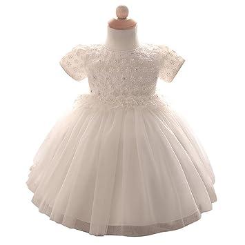 Byjia Kleinkinder Kleinkinder Rock Blumenmädchen Kleid Multi-Layer ...