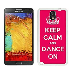 Cool White TPU Phone Case for Samsung Note 3 Keep Calm and Dance Red Durable Silicone Slim Cover