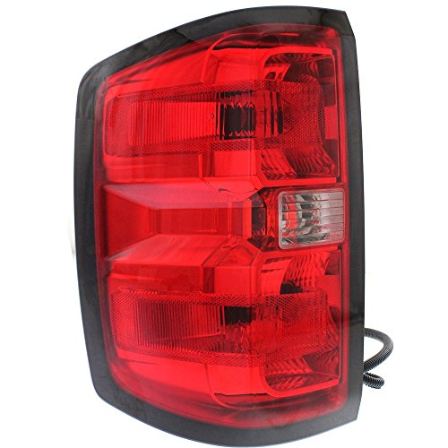 Tail Lamp for Chevy Silverado 1500 14-15/2500 Hd/3500 Hd 15-15 Tail Lamp Left Side Assembly (2500/3500 Hd W/Dual Rear Wheels) All Cab Types ()