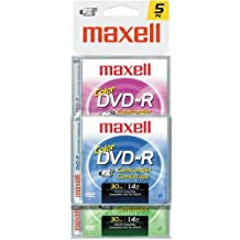 Maxell Camcorder Color - 5 x DVD-R (8cm) - 1.4 GB ( 30min ) - storage media