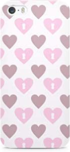 Loud Universe Valentines Day Couples Love Heart Pattern Sleek Scratch Resistant Wrap Around iPhone SE Case - White