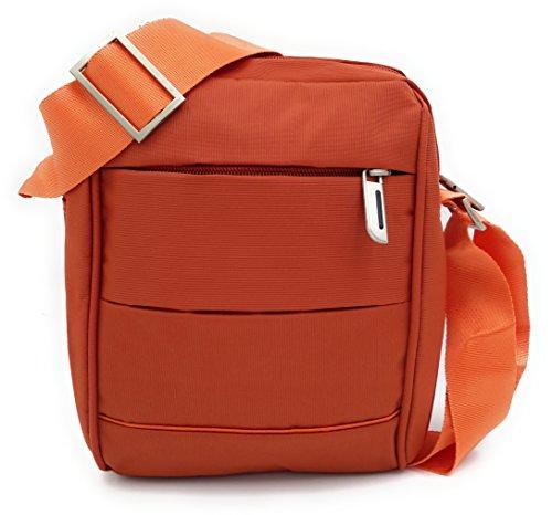 CONTRO VENTO - Borsello Tracolla Uomo 3, Borse organizer portatutto Mattone/Orange