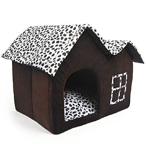 Angelwing Pet Dog House Indoor Warm Room Double Roofs Portable Dog Cat Kennel (Inside Furniture Mile End)