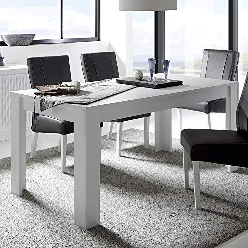 Kasalinea - Mesa de Comedor, Color Blanco Lacado Mate, diseño ...