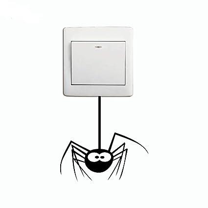 Zhuhaimei,Etiqueta engomada del Interruptor de la araña de la Historieta Etiqueta de la Pared
