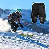 "RIDBIKER Riding Armor Pants Protective Armor Shorts for Skating Cycling Motorcycle (2XL(Waist:40-44"")) Black"