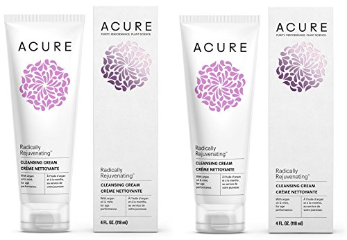 Acure Organic Mint and Argan Oil Facial Cleansing Creme With Acai, Blackberry, Rosehips, Pomegranate, Chamomile, Rooibos, Aloe Vera and Echinacea For Skin Clearing and Fighting Acne, 4 oz. (Pack of 2) (Wild Berry Mousse)