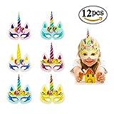 paper horse mask - RIOMIO Rainbow Unicorn Paper Masks Kids Birthday Unicorn Party Cosplay Supplies 12 pcs