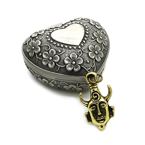 Supernatural Dean Winchester Pendant Necklace with Plum Blossom Flowers Heart Shaped Jewelry Box