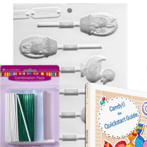 Lorann Lollipop Hard Candy/Chocolate Mold Bundle - Includes