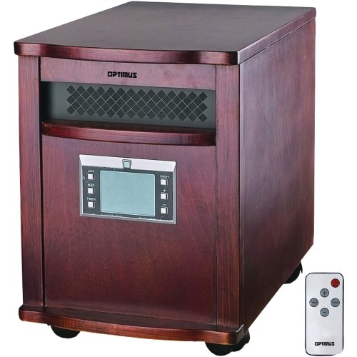OPTIMUS H-8010 IR Quartz Heater with Remote Home, garden & living