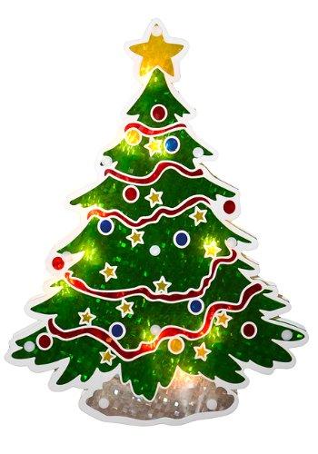 sienna lighted holographic christmas tree window silhouette decoration 125 - Amazon Christmas Tree