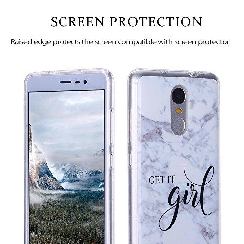 Funda Xiaomi Redmi Note 3, Carcasa Redmi Note 3, RosyHeart Suave Transparente TPU gel Silicona Cover con patrón de Mármol Premium Delgado Flexible a prueba de caídas Caja Protector Bumper para Xiaomi  girl