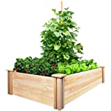 Greenes Fence Cedar Raised Garden Kit 2 Ft. X 4 Ft. X 10.5 In. makes creating a bountiful garden easy. The dovetail joints make frame assembly a breeze: Simply slide the boards by hand into the corner joints for a solid and secure garden frame. Set t...