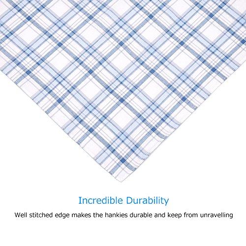 Neatpal 100% Cotton Men's Handkerchiefs Check Pattern Hankies by Neatpal (Image #3)