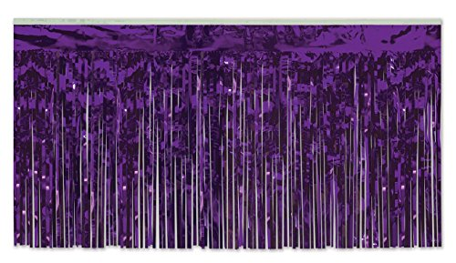 Pkgd 1-Ply FR Metallic Table Skirting (purple) Party Accessory  (1 count) (1/Pkg)