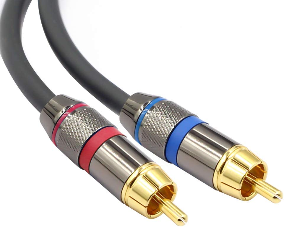 1//8 Inch to 2RCA Male Y Splitter Adapter Stereo Cord 10 Feet//3 Meters TISINO 3.5mm to RCA Cable