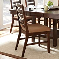 Steve Silver Eden Dining Side Chairs - Set of 2 - Dark Cherry