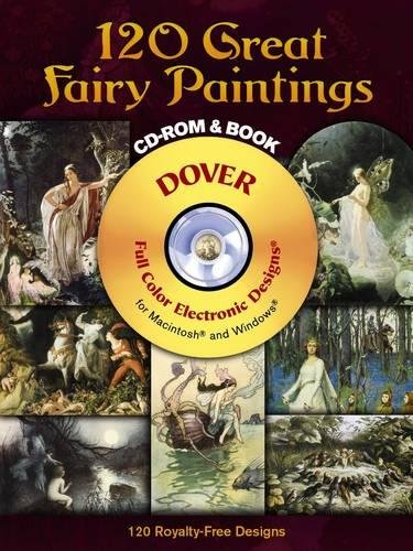 120 Great Fairy Paintings CD-ROM and Book (Dover Electronic Clip Art) -
