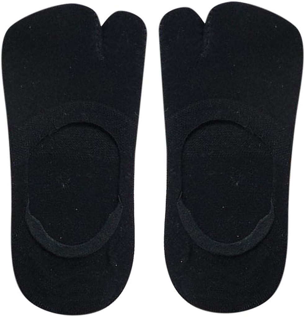 yotijar 5 Paires De Chaussettes Pour Femmes /à Deux Orteils Tabi Chaussettes Casual Low Cut Boat Socks Set