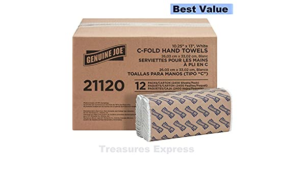 Amazon.com: Genuine Joe C-Fold Paper Towels 1 Ply 13