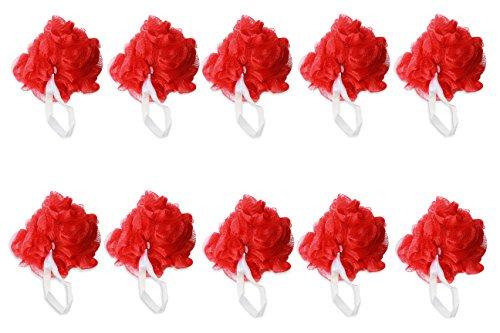 Colgate Red Mesh Pouf Bath Sponge Soft Quality (Pack of 10)