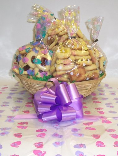 Butter Cookie Lovers Basket with No Handle Bunny Hop Wrapping ()