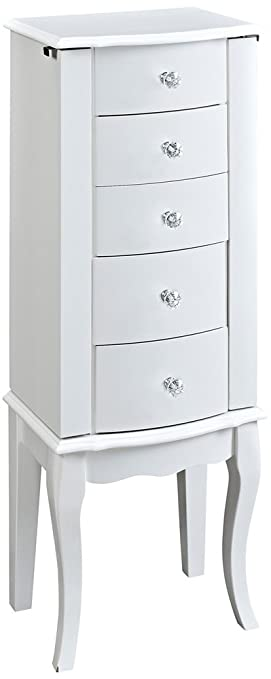 Attractive Powell Furniture Jewelry Armoire, White