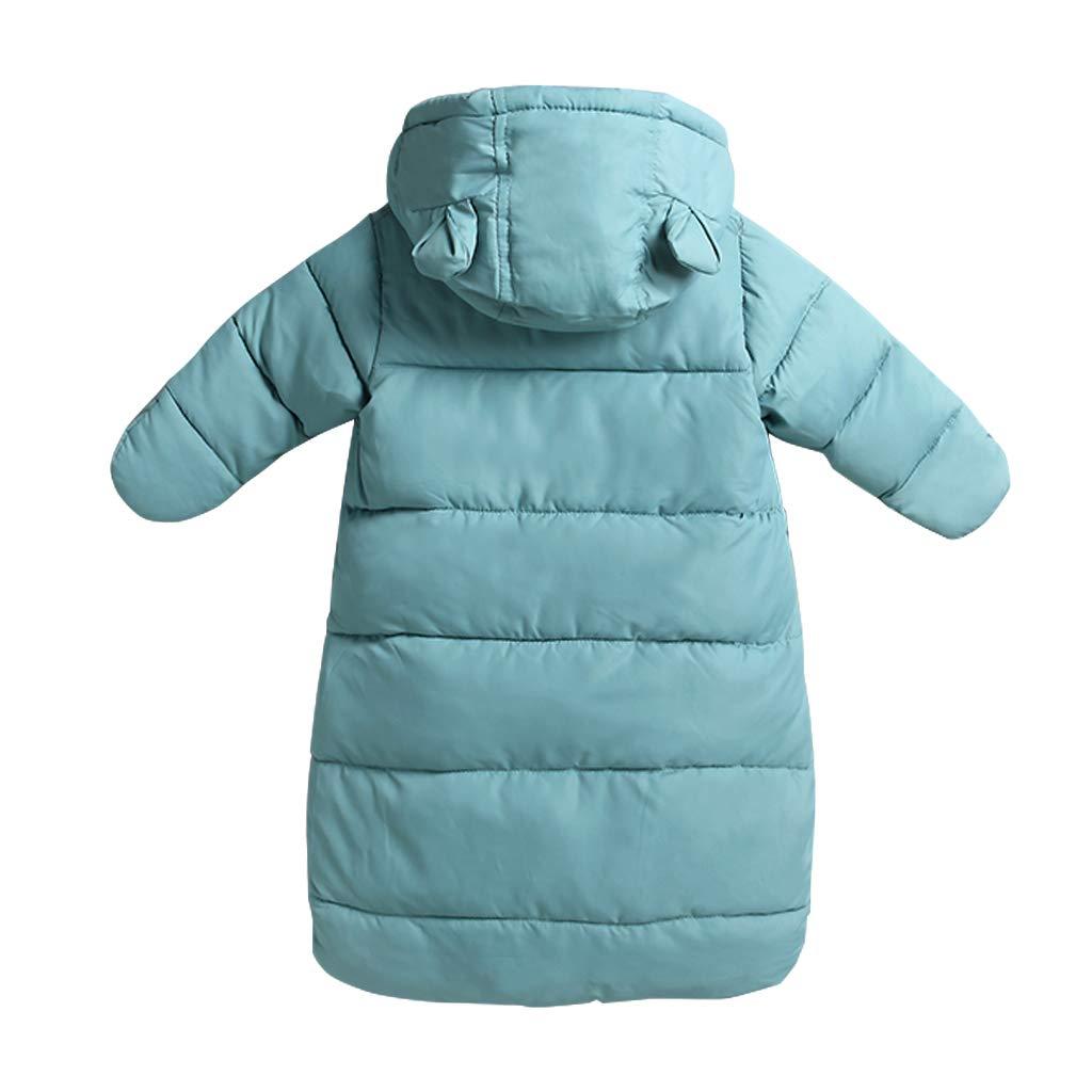 Saco de dormir para bebés 3 Tog, Recién Nacido Mangas Largas con Capucha Mameluco Invierno Frente de Cremallera 0-3 Meses,Azul: Amazon.es: Bebé