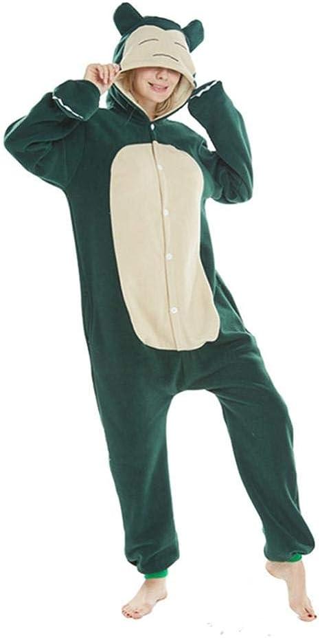 FZH Pijama Animal Adulto Azul Snorlax Onesie Kigurumi Pijama ...