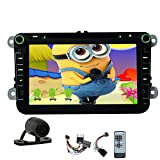 Free camera Canbus Newest 100% Android 4.4 GPS Car Stereo navigation 2din Quad-core BT Bluetooth Car DVD Player for VW Polo Touran Passat Magotan Sagitar FM AM Radio USB/SD aux CD player
