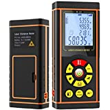 Cheap NUNET Portable Measuring Laser Distance Meter W. Bubble Calibration, ±1/16 inch Accuracy, 196ft(60m) Distance & Multi-functional measurement (H-60)