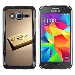 El Bloc de notas de amor - Metal de aluminio y de plástico duro Caja del teléfono - Negro - Samsung Galaxy Core Prime