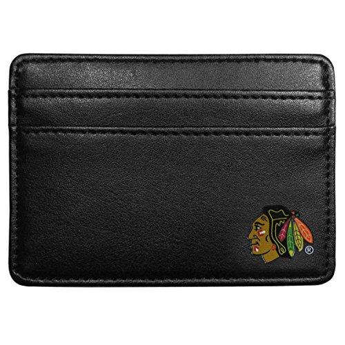 NHL Chicago Blackhawks Leather Weekend Wallet, Black