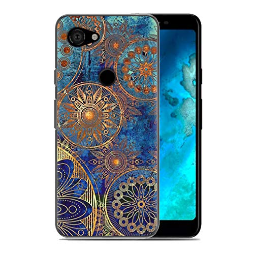 Anyos Compatible Google Pixel 3a Flowers Cases, Girly Floral Pattern Case, Slim Clear Shockproof Soft TPU Cover (Cool)