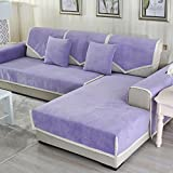 DW&HX Waterproof Anti-Slip Sofa Cover, Pets Dog Sectional Couch Water Resistant Stain Resistant Multi-Size Sofa Covers Slipcover Furniture Protector -Sold by Piece-Purple 28x83inch(70x210cm)