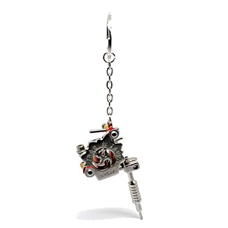Amazon.com: harleya Mini Tatto máquina colgante llavero con ...
