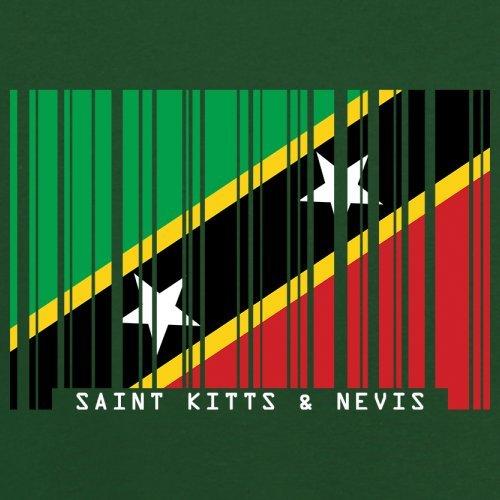 Saint Kitts and Nevis / St. Kitts und Nevis Barcode Flagge - Herren T-Shirt - Flaschengrün - S