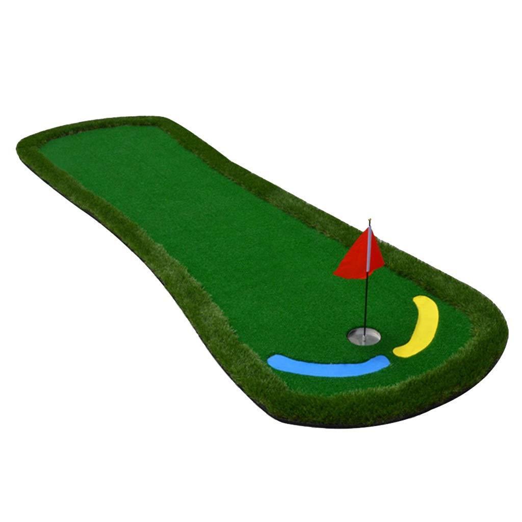 ゴルフパターグリーン持ち運びに便利な折りたたみ式ミニ屋内および屋外用練習用グリーンブランケット屋内用オフィス練習用ブランケット (Color : Green, Size : 95*300*6cm) 95*300*6cm Green B07QV58V2M